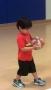 kid basketball with medal