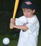 baseball boy hitting